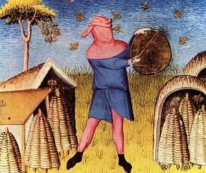 Bee medieval beekeeper